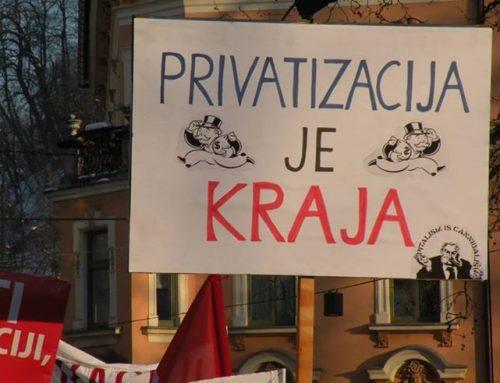 NAŠ NAGOVOR NA PROTESTU PROTI PRIVATIZACIJI